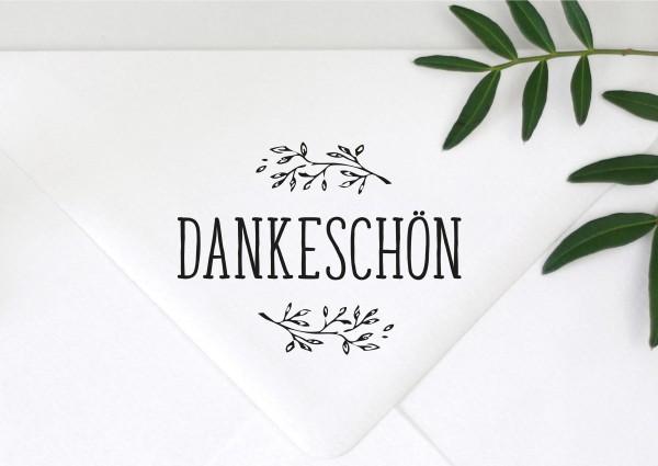Stempel Textstempel Spruch Dankeschön