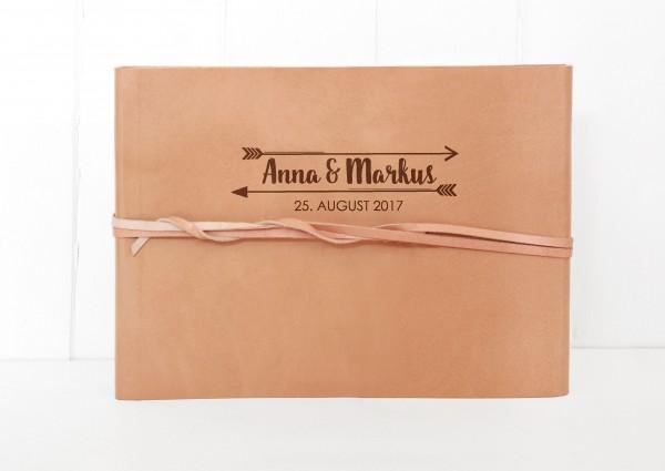 Fotoalbum Hochzeit Leder - Amors Pfeil