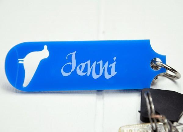 Personalisierter Schlüsselanhänger - Möwe