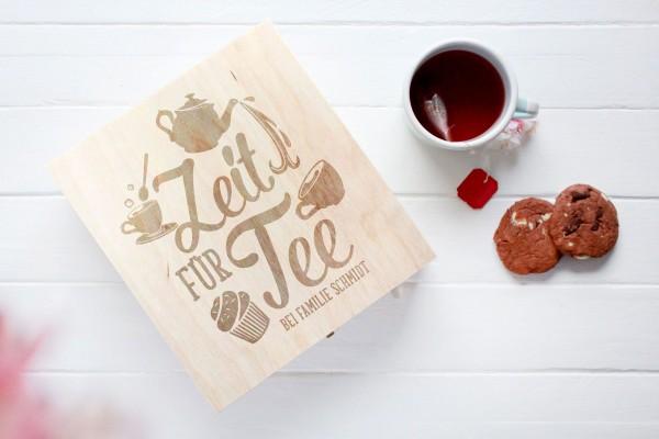 Teekiste Zeit für Tee