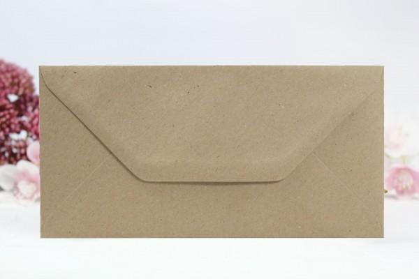 20 Umschläge Naturpapier Din lang