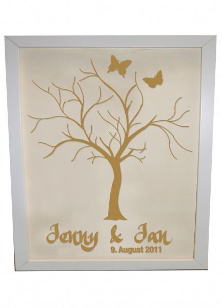 Individueller Wedding Tree, Gästebuch für Fingerabdrücke