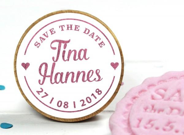 Fondant Stempel zur Hochzeit Save the Date