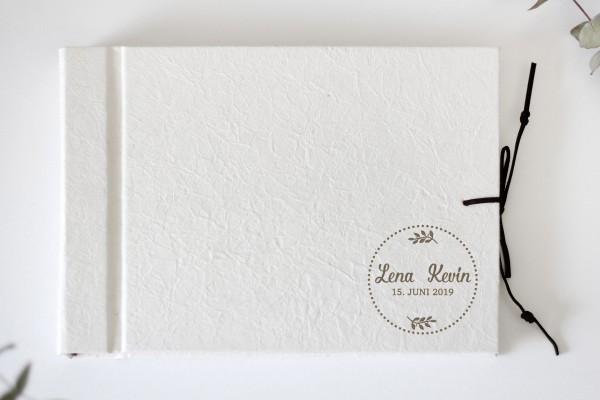 Album Elfenbein Lederoptik zur Hochzeit Wedding Fotoalbum