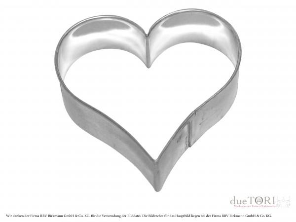 Ausstechform Herz 9 cm für Keksstempel