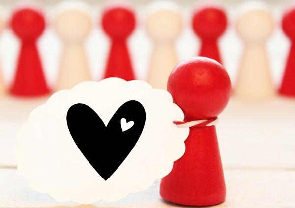 Motivstempel Ministempel Herz mit Herzchen