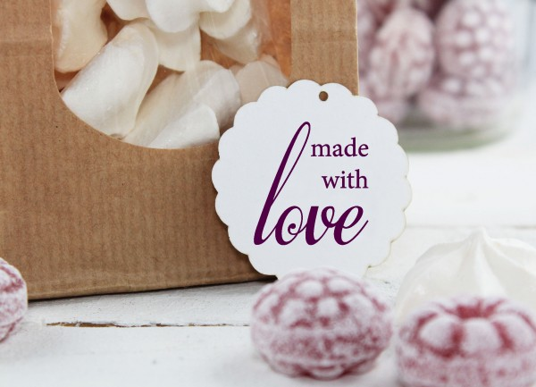 Textstempel - made with Love -