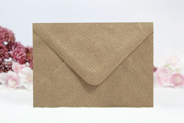 20 Umschläge Naturpapier gerippt Din C7