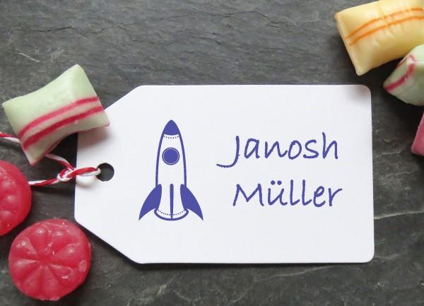 Stempel Rakete für Kinder