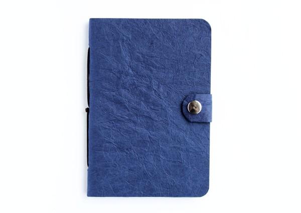 Kunstleder-Notizbuch blau - klein