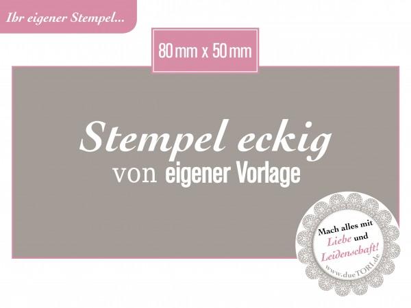 Logostempel Stempel 80 x 50 mm von eigener Datei Vorlage