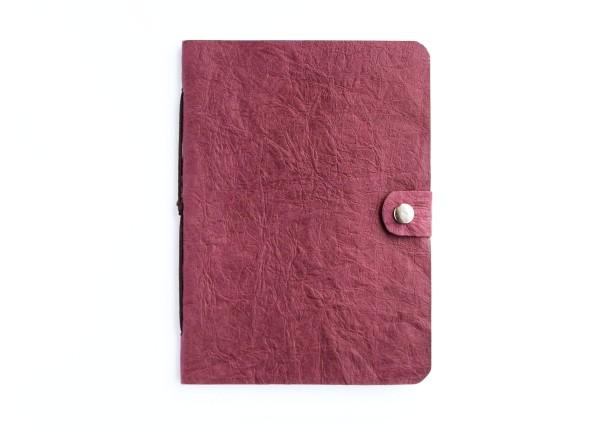 Kunstleder-Notizbuch rot - A6 Format