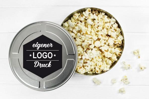 Filmdose Gutscheindose mit eigenem Logo