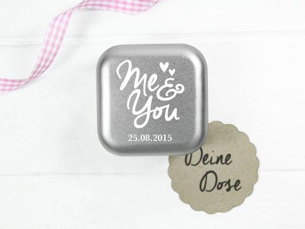 "Ringdose ""You & Me"" mit Hochzeitsdatum"