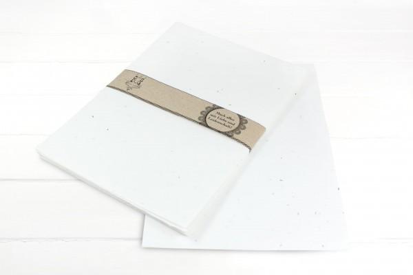 10 Blatt Saatgutpapier Klee - handgeschöpft