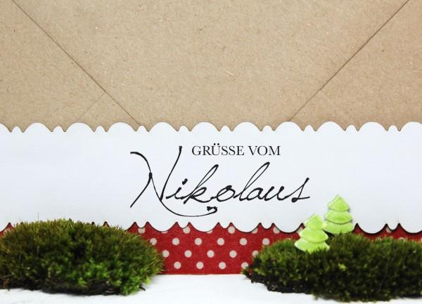 """Weihnachtsstempel """"Grüsse vom Nikolaus"""""""