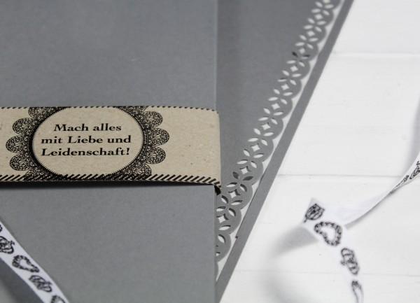 20 Blatt A4 Karton - Grau