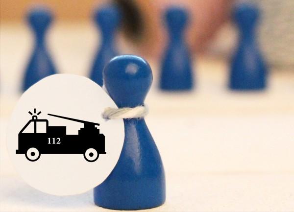 Mikrostempel Feuerwehrauto doodle Stempel