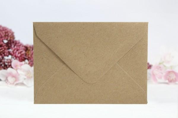 20 Umschläge Naturpapier Din C7
