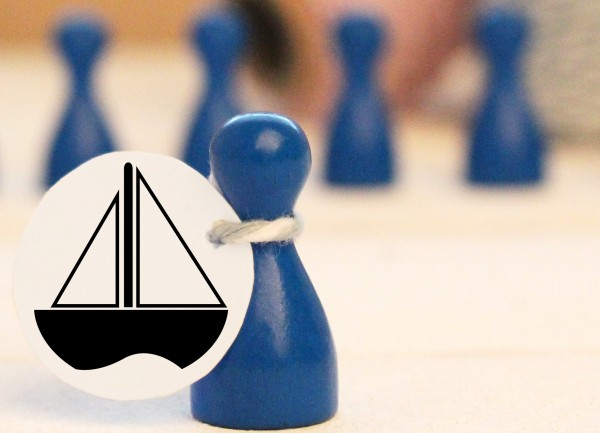 Mikrostempel Boot Schiff Doodle Stempel