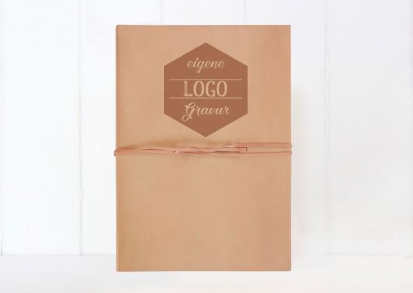 Fotoalbum aus Leder mit eigenem Logo Hochzeitslogo Design