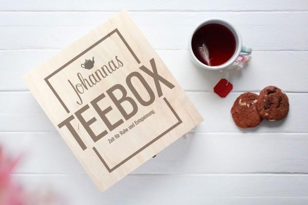 Teebox mit Namen graviert
