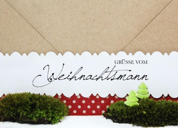 """Weihnachtsstempel """"Grüsse vom Weihnachtsmann"""""""