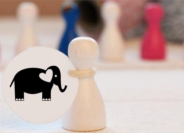 Mikrostempel Elefant doodle Stempel