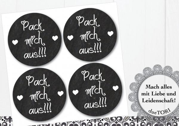 24/15 Sticker - Pack mich aus - Schieferoptik