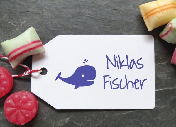 Stempel Wal für Kinder