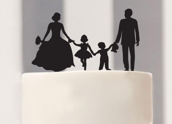 Cake Topper family wedding