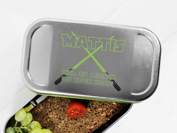 Lunchbox Sternenkrieger Lichtschwert mit Namen