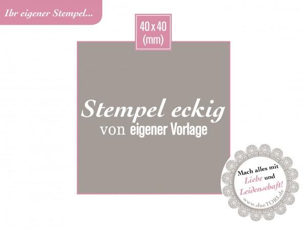 Logostempel 40 x 40 mm von eigener Datei Vorlage