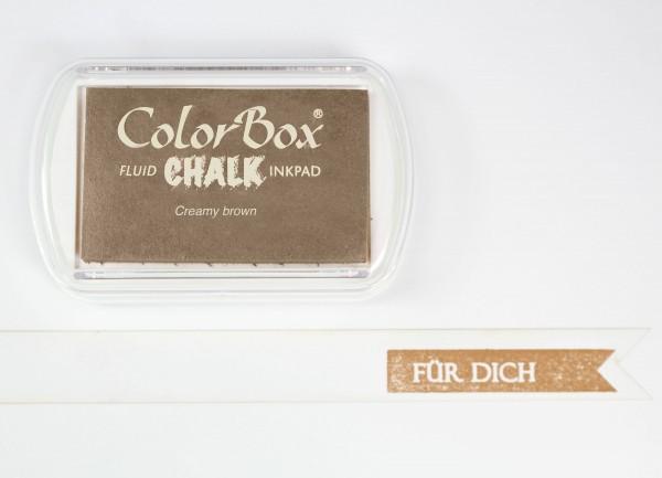 Chalk Stempelkissen Creamy Brown XL