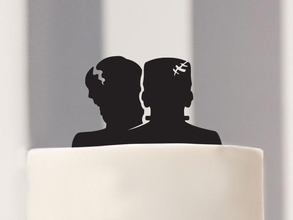 Cake Topper Frankenstein & Frankensteins Braut