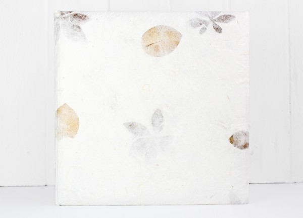 Gästebuch Handgeschöpft mit Blüten XS