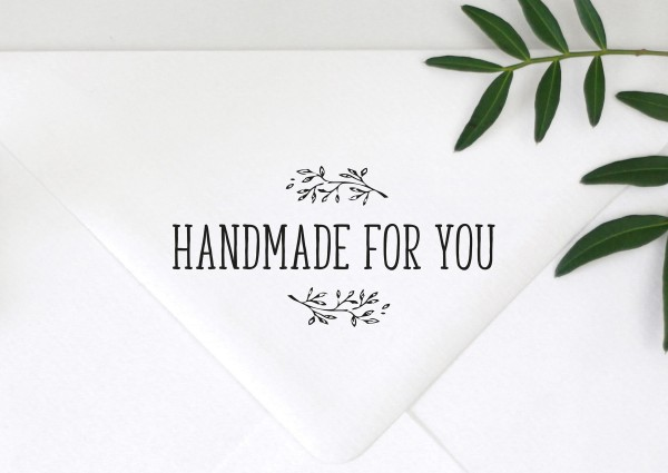 Stempel Textstempel Spruchstempel HANDMADE FOR YOU