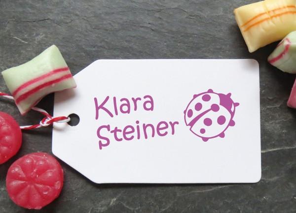 Stempel Marienkäfer für Kinder