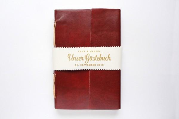 Lederbuch oder Tagebuch - personalisiert in rot