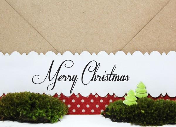 "Weihnachtsstempel ""Merry Christmas"""