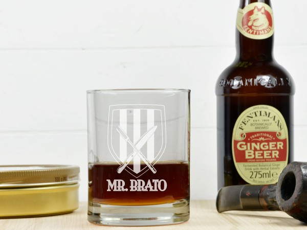 Personalisiertes Whiskeyglas - Wappen