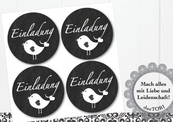 24/15 Sticker - Einladung - Schieferoptik