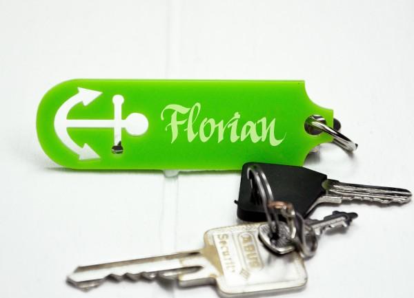 Personalisierter Schlüsselanhänger - Anker