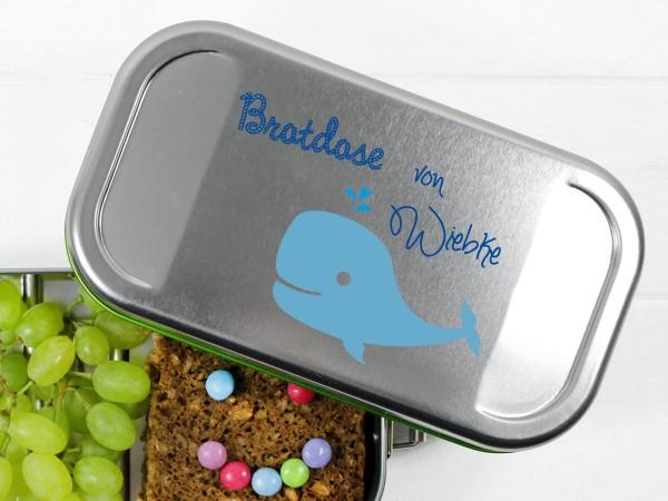 Lunchbox mit Walmotiv, personalisiert