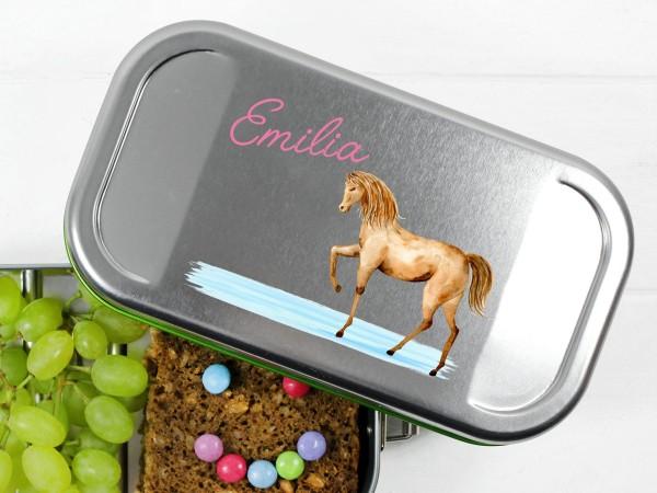 Lunchhbox mit Pferd, personalisiert