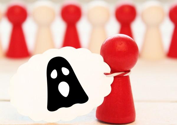 Geist Ghost Ministempel Motivstempel