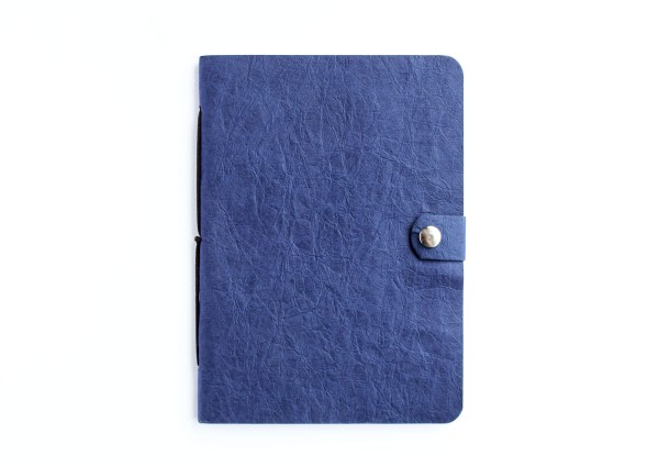 Kunstleder-Notizbuch blau - A6 Format