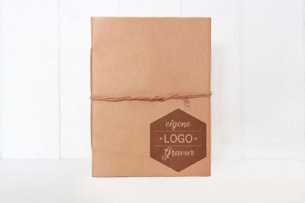 Leder-Notizbuch mit eigenem Logo