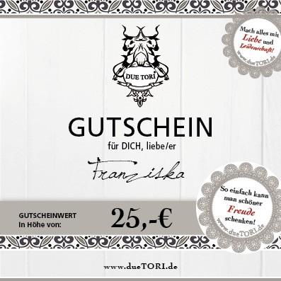 25,- € GUTSCHEIN für personalisierte Geschenke