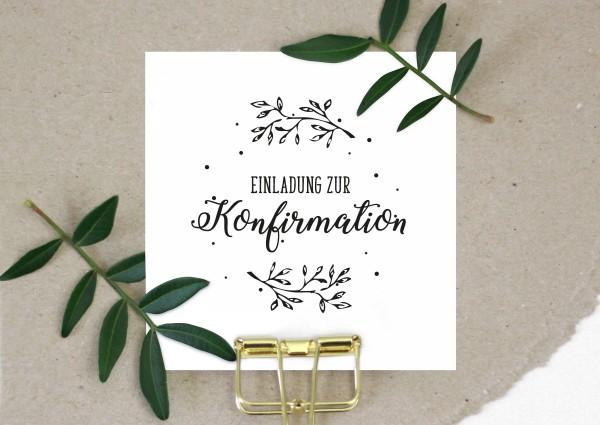 Stempel Textstempel Spruchstempel Einladung zur Konfirmation